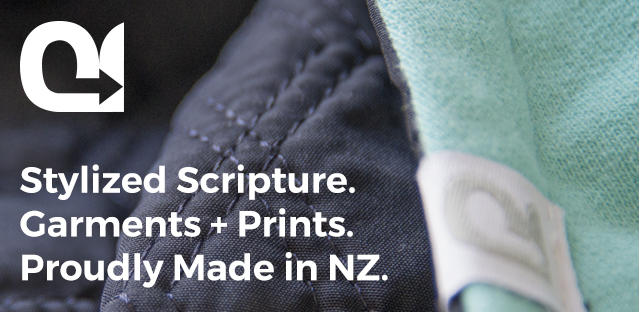 New Zealand made hoodies and gold foil prints - Stylized Scripture